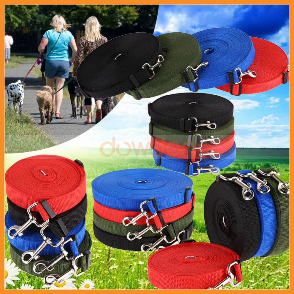 Long 10m Dog Pet Puppy Traction Rope Training Neck Strap Nylon Lead Leash Walk Hiking Training