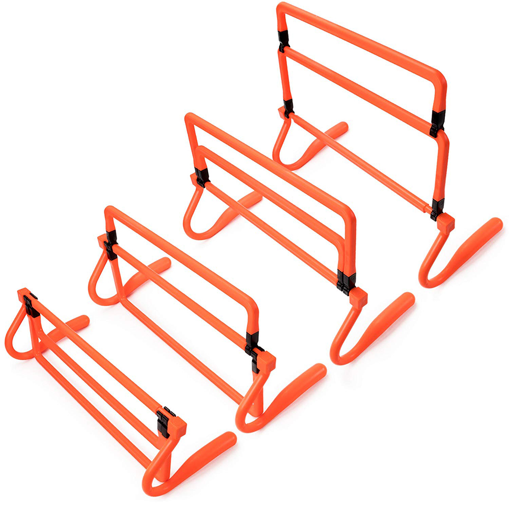 ActEarlier 6-Pack of Agility Hurdles with Adjustable Height Extenders with Carry Bag for outdoor sports training