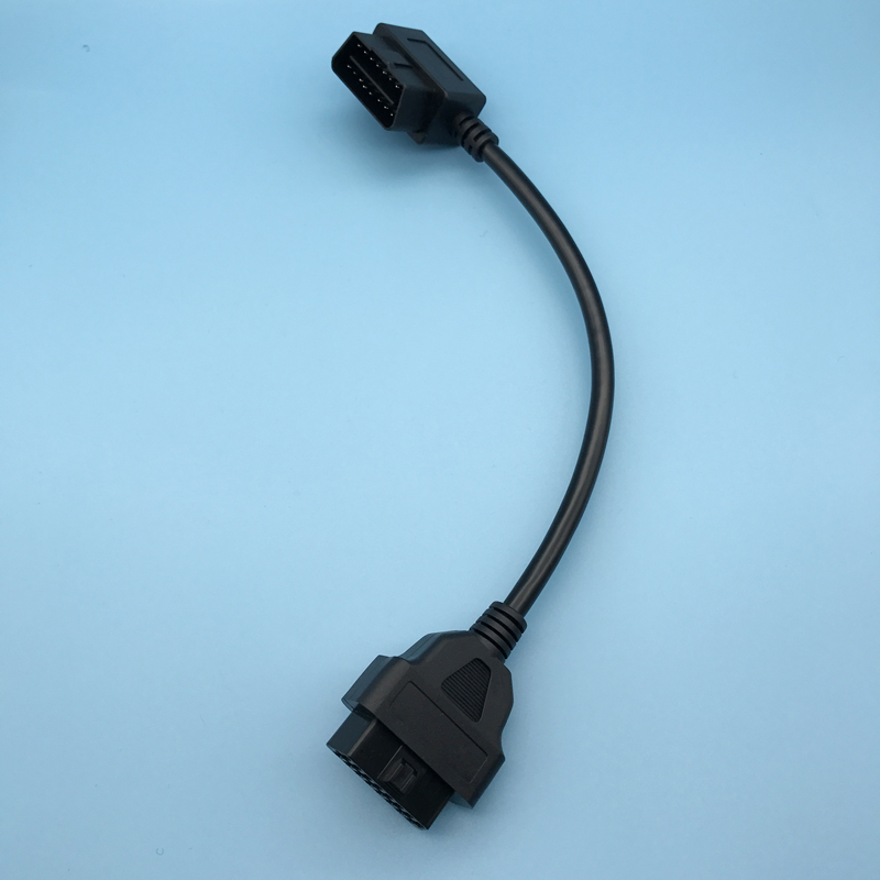 Professional OBDII Right Angle Male To Female OBD Cable
