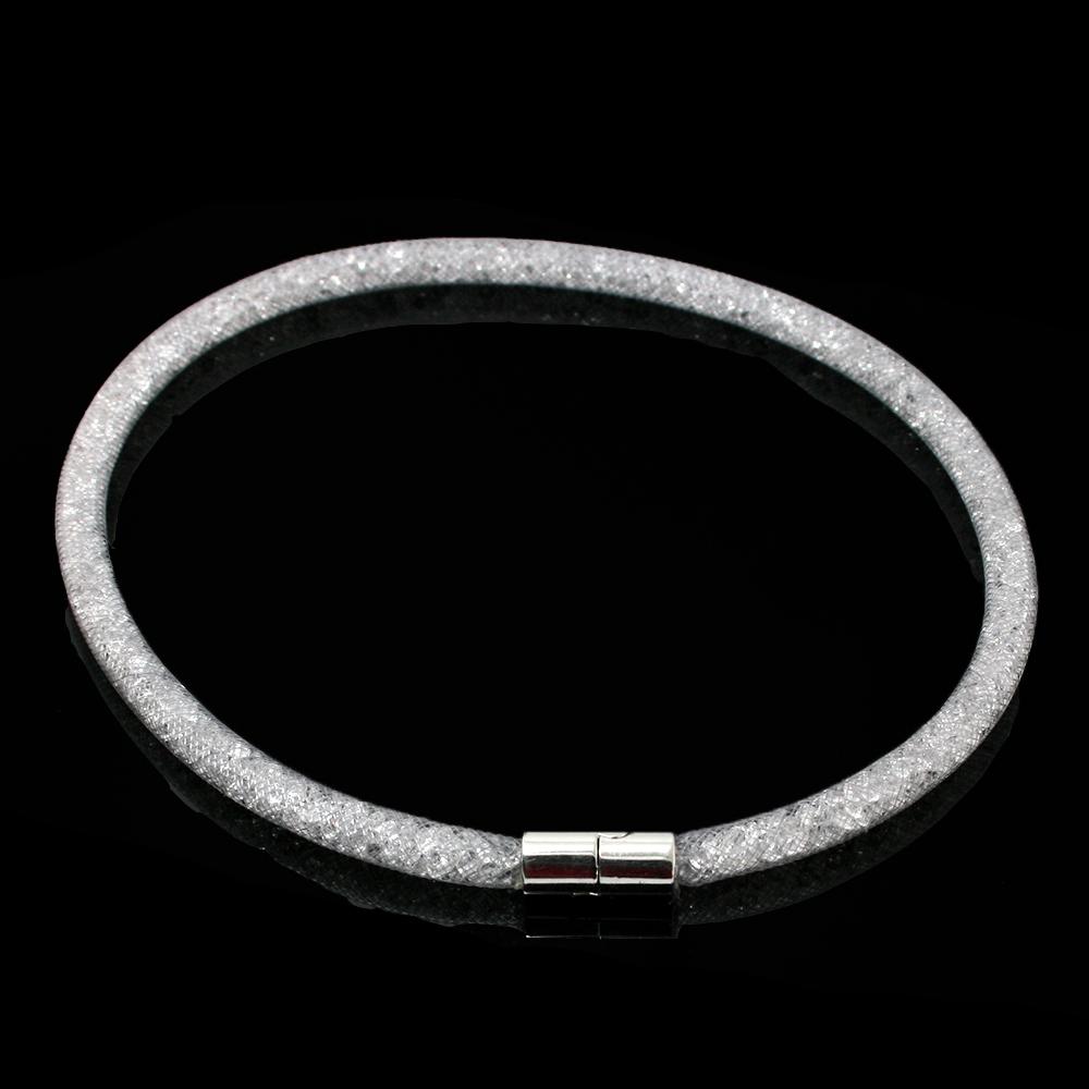 Ожерелье новое поступление серый сетки Stardust кристалл куб мода для женщин очарование опт или розница JDN001-27