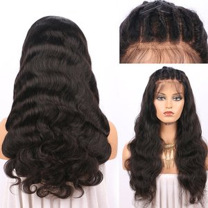Human Hair Brazilian Silk Top Full Lace preplucked hairline wig Body Wave Silk Base Virgin Human Hair Wig