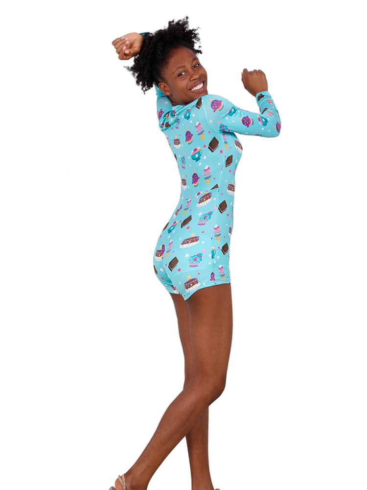 2019 Hot Romper Knitting Women Sleepwear Adult Onesie Pajama