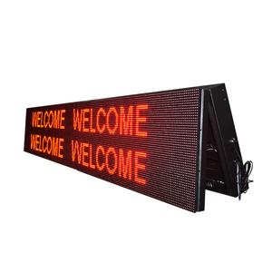 IP65 P10 9x3 Red led message board outdoor led message board display screen
