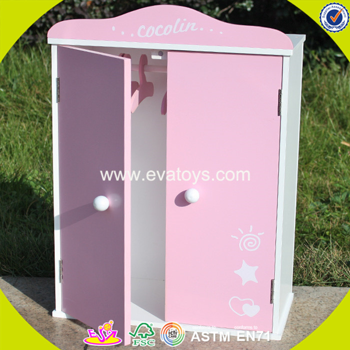 wholesale kids toy wooden mini wardrobe cheap baby toy wooden mini wardrobe W06B041