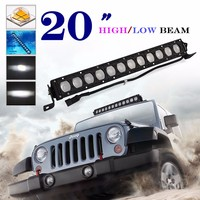 High Low Beam IP68 12pcs 10W XML2 Chips 20 Inch 120W LED Light Bar Off Road