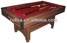 Manufacturing MDF Pool/ billiard Table With metal or plastic corner and leveller in China