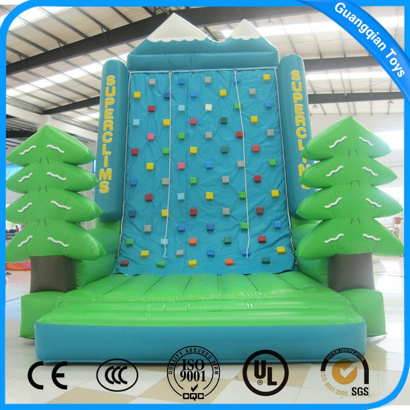 Guangqian Indoor Green Tree Inflatable Climbing Wall for Kids
