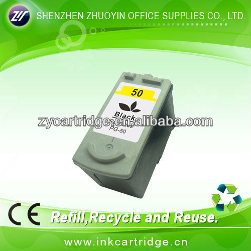 Compatible black ink cartridge for Canon PG-50 (18ML ink level)
