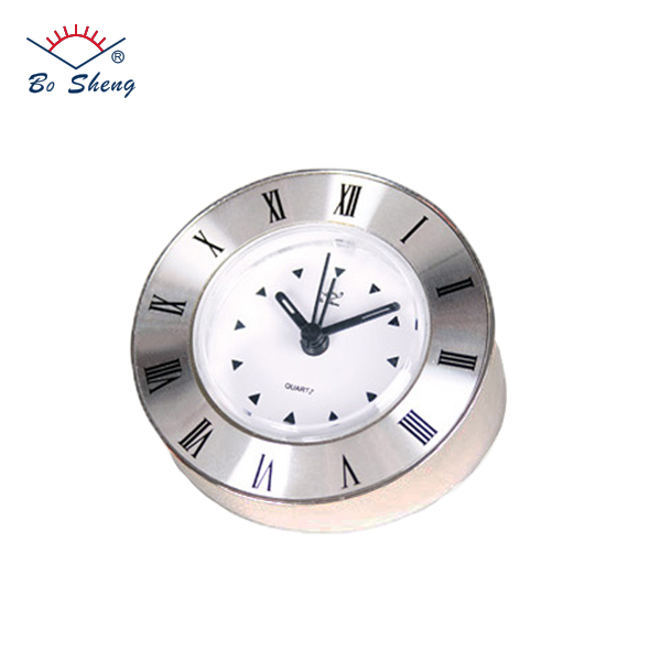 2017 Bosheng Brand Cheap Silver Round Alarm Clock For Kid's Table Decoration.(3105)