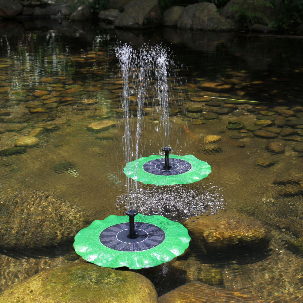 Portable Waterfall Fountain: Floating 8V 1.4w Solar Power Panel Pond Fountain