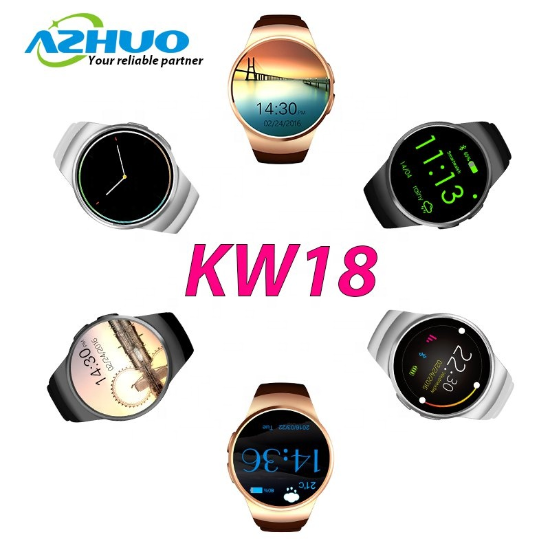 Wholesale Ips Round Screen Smart Watch Kingwear Kw18 With Heart Rate  Monitor - Buy Kingwear Kw18,Smart Watch Kw18,Kingwear Kw18 Smart Watch  Product on