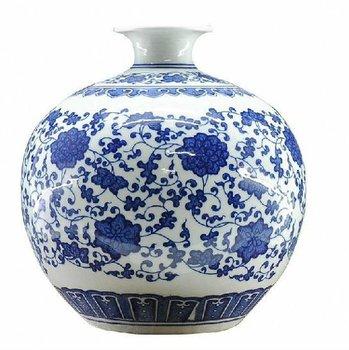 Oriental Blue And White Porcelain House Decorative Pomegranate Vase