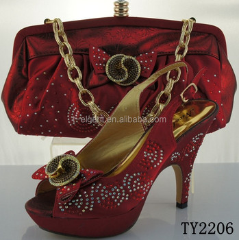 49f5fa5454b Wine color wholesale dress shoes and matching bags italian style shoes and bag  set