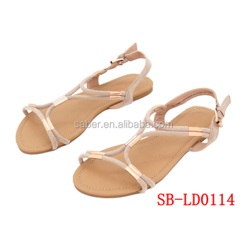 cddfcdf4126838 Saber Sb-ld0114 Latest Fancy Design Flat Sandals Shoes Women - Buy ...