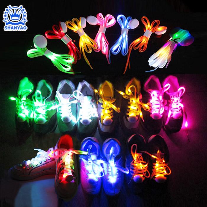 Fábrica de Venda Quente LED Luminosos Cadarço Para Brilhando no Escuro Quando Dançando Festa Rave Party Concerto Ciclismo Jogging Correndo etc
