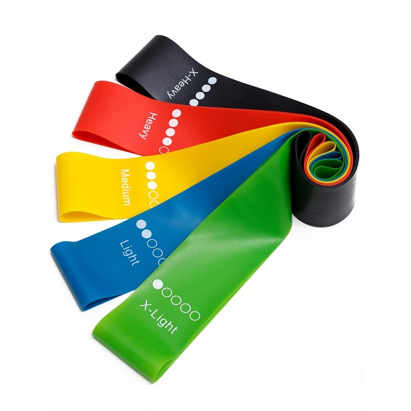 Hip latex stretch bands yoga sports fitness exercise elastic resistance band loop set, Customized color