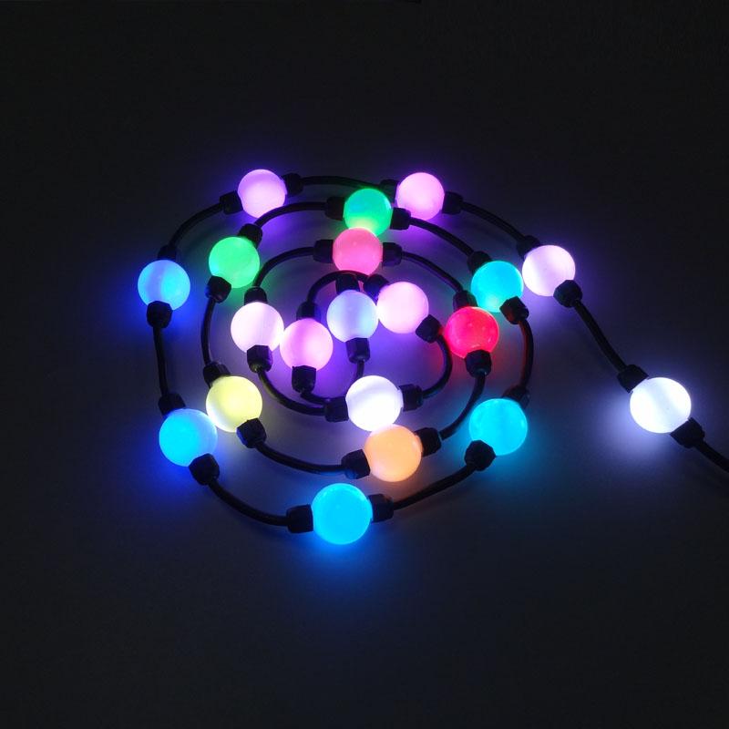 3D glowing ball RGB led point light