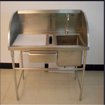 Gentil Custom Make Supermarket/Commercial Kitchen Stainless Steel Fish Cleaning  Sink Table With Head Board