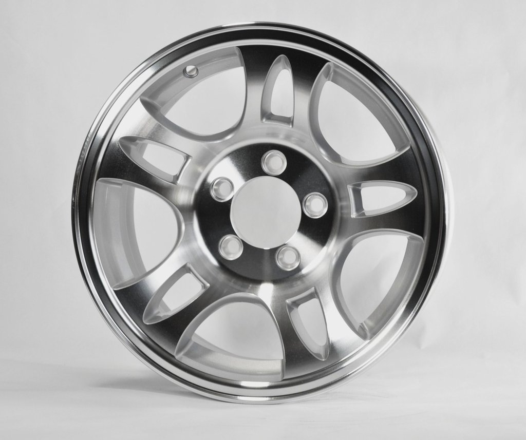 "eCustomRim TWO (2) Aluminum Sendel Trailer Rims Wheels 5 Lug 14"" T03 Split-Spoke Style"