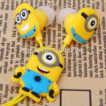 Promotion! Cartoon Anime headphone Despicable Me Minions fone de ouvido Cute Earphone music In-Ear headphones for girl & kids #8