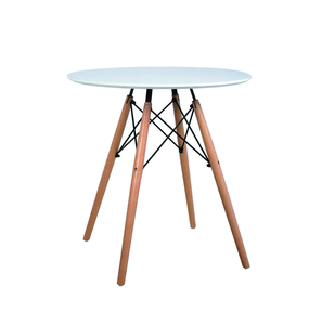 Used Cheap Fancy White MDF Wooden Modern Dinner Banquet Round Dining Table