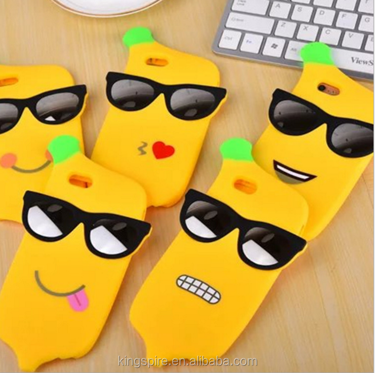 Mobile Phone Accessory Silicone Factory Banana Phone Cover For iPhone 6