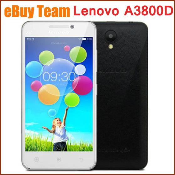 Original Lenovo A3800D A3800 Mobile Phone 4 5″ MTK6582 Quad Core Android  4 4 Dual Sim 512MB+4GB 5 0MP GPS Unlocked Smartphone