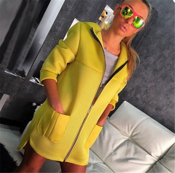 Вата-цветные молния длинный абзац женщины длинные пальто с капюшоном женщины плащ для женщин бесплатная доставка