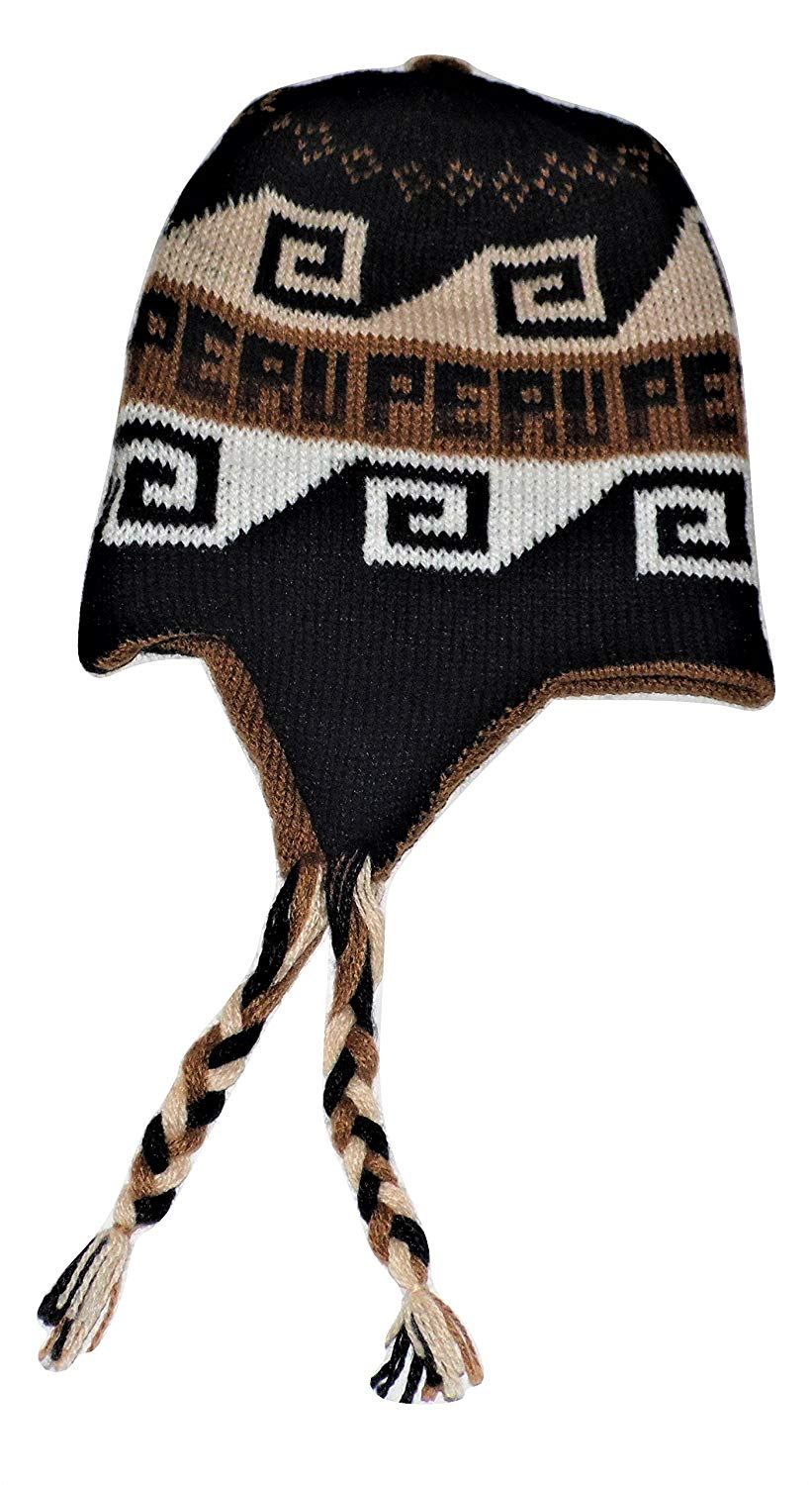 Alpaca Wool Chullo Reversible with Ear Flaps From Peru