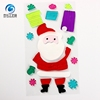 Cheap High Quality Christmas Santa Claus Gel Sticker Window Clings