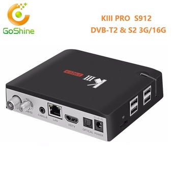 Goshine Android 6 0 Kiii Pro S912 Combo Tv Box 3g16gb Dvb S2 T2 4k  Satellite Receiver - Buy Kiii Prokiii Pro,K3 Pro Dvb-s2 Dvb-t2,Kiii Pro  Android Tv