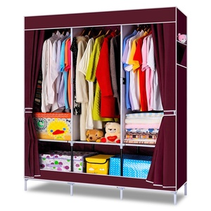 Factory direct large capacity plastic portable wardrobe cabinet