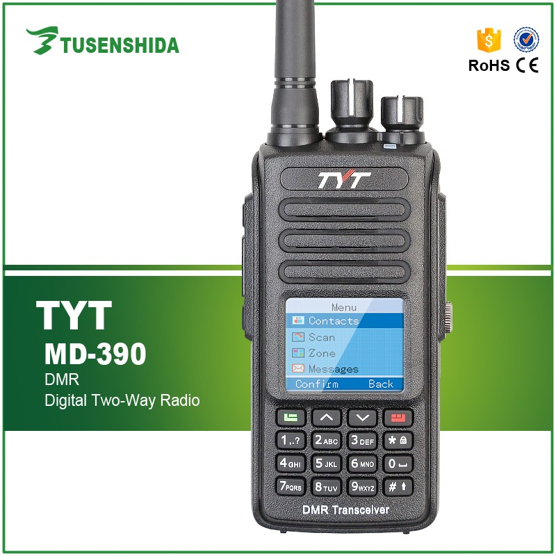 Hot sale DMR Powerful Handheld UHF VHF TYT MD-390 am/fm Two Way Radio with GPS function 2000mAh Walkie Talkie