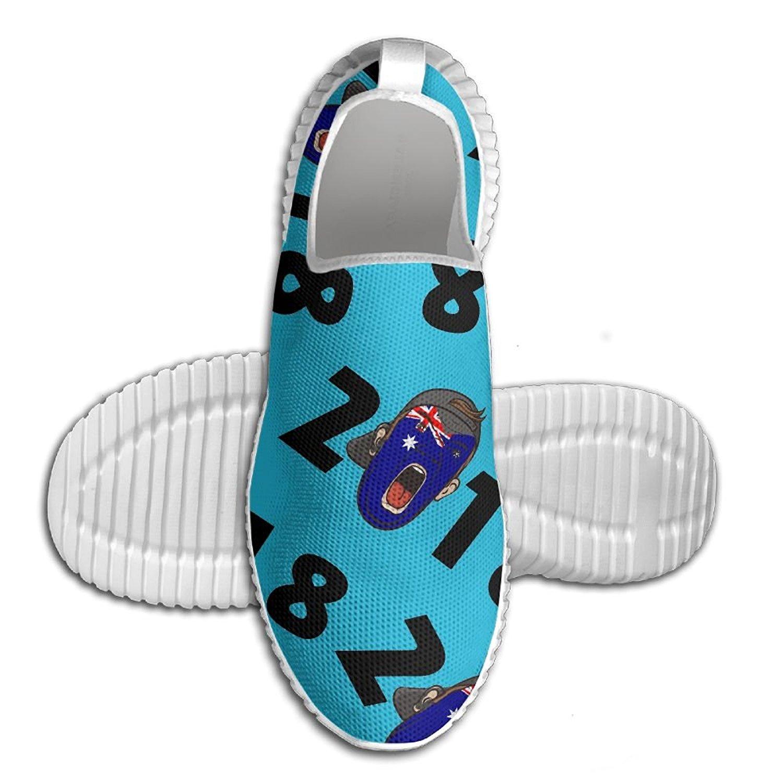 Get Quotations · 2018 Soccer Fans Australia 3D Print Men Walking Shoes Lightweight Casual Running Shoes