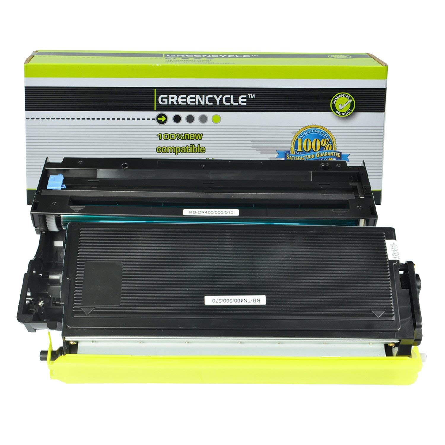 GREENCYCLE 2 Pack Compatible TN560 Black Toner Cartridge and DR500 Drum Unit Replacement High Yield Use with Brother DCP-8020 HL-1650 HL-1850 HL-1870n MFC-8420 MFC-8820DN Printer(1 Toner, 1 Drum)