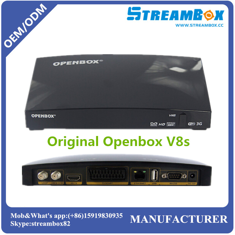 Free shipping Original Openbox V8S <strong>HD</strong> USB Mpeg4 Smart <strong>FTA</strong> Free to Air PVR DVB S2 <strong>Satellite</strong> <strong>Receiver</strong> 1080P