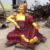 Fiberglass resin Buddha statues for mandir decoration