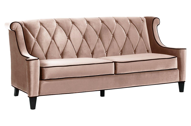 Get Quotations · Armen Living Barrister Sofa, Caramel Velvet