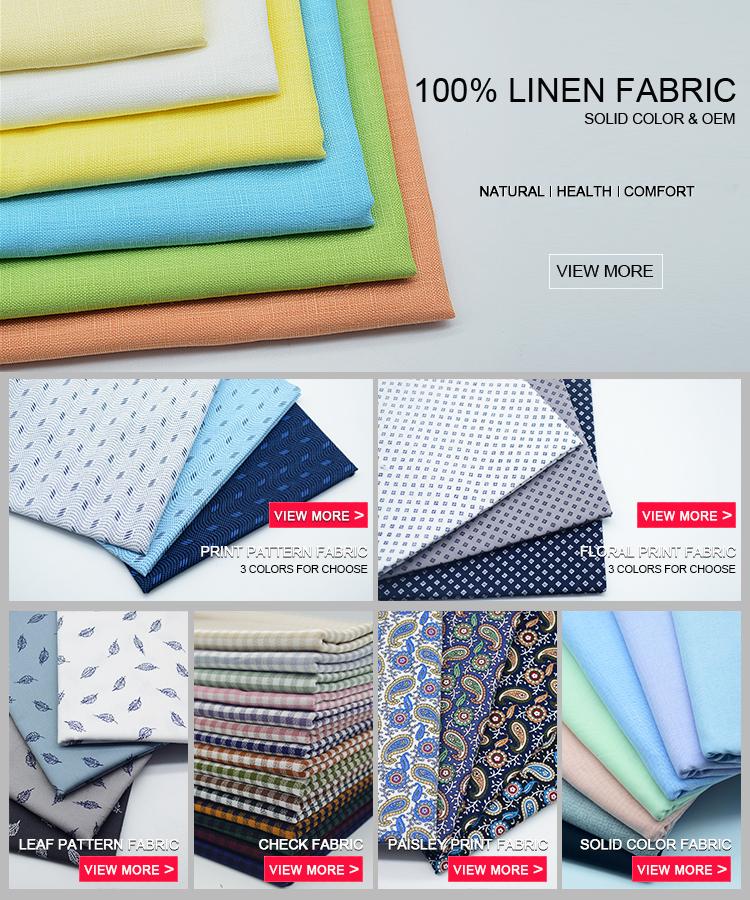 A granel personalizado impreso 100% orgánico de impresión de algodón tejido de camisa de los hombres de material textil: Importación de tela de algodón de china