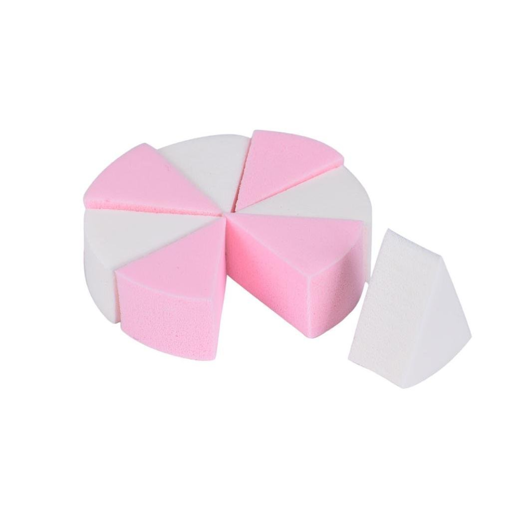 Clean Face powder puff, TOOPOOT 8PC Beauty Flawless Cosmetic Facial Face Sponge Powder Puff