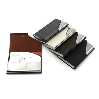 2018 new stainless steel business credit card holder metal business card guard aluminum slim wallet card holder