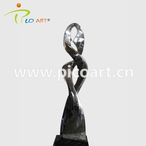 Modern Metal Rotate Design Public Arts Stainless Steel Outdoor Sculptures