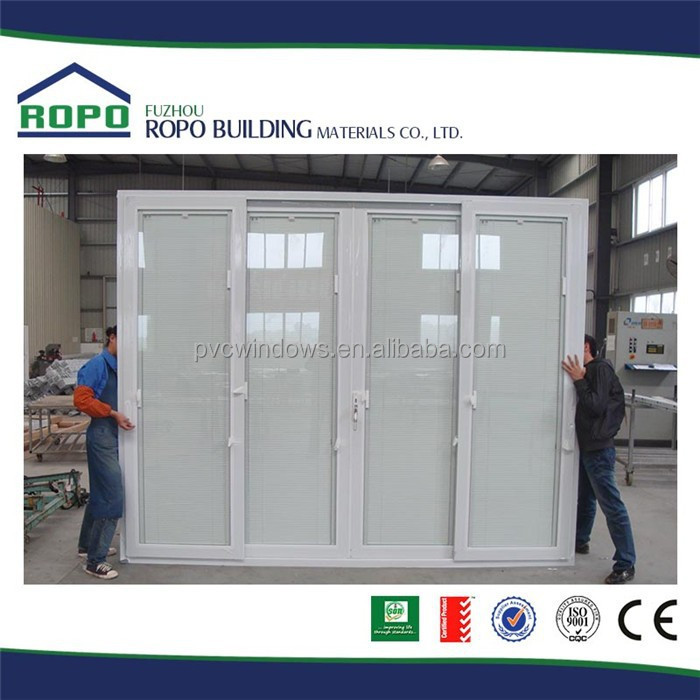 Vente chaude upvc porte coulissante avec double verre stores l 39 int rieu - Vente porte coulissante interieur ...