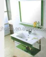Single Bowl Glass Top Bathroom Vanity