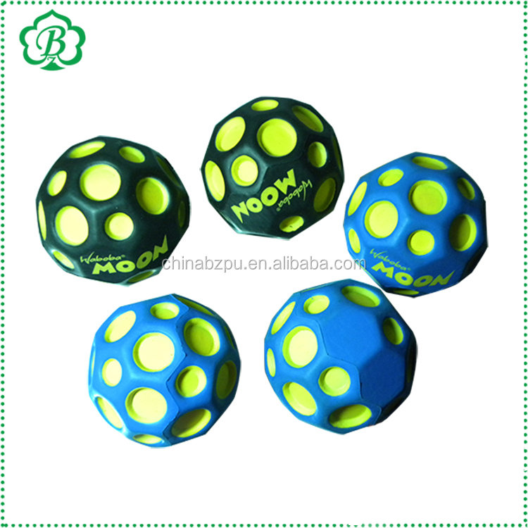 2018 Top Sale High Bouncing Pu Foam Stress Moon Ball