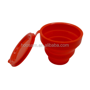 2017 new arrival silicone folding flexible cup for trip cheap price
