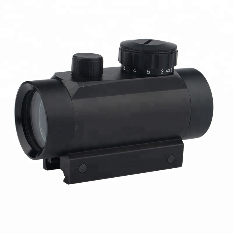 hunting air sight tactical 1X30 red green dot 5 brightness for diverse MOA illuminated tactical pistol/rifle scope for Picatinny