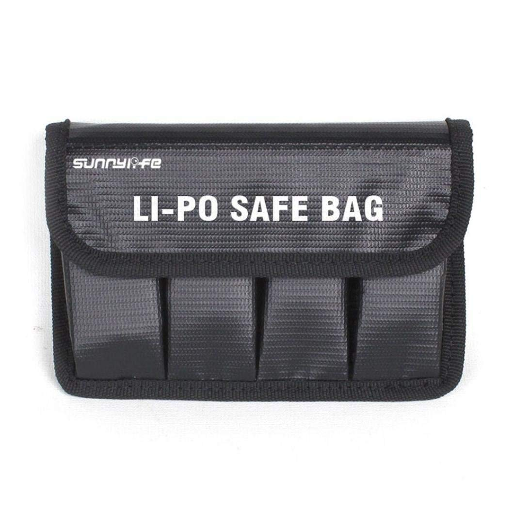 Gbell Li-Po Battery Fireproof Blast-proof Storage Case Safety Cover, Lithium Battery Guard Safe Bag For OSMO/OSMO Mobile/OSMO +/OSMO Raw (Black)