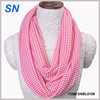 latest new design cotton houndstooth infinity scarf