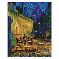 5D DIY Christmas Diamond Painting Full Drill Van Gogh Abstract Rhinestone Embroidery for Wall Decoration 16X20 inches